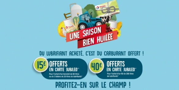 offre promotionnelle agricole TOTAL Jubileo